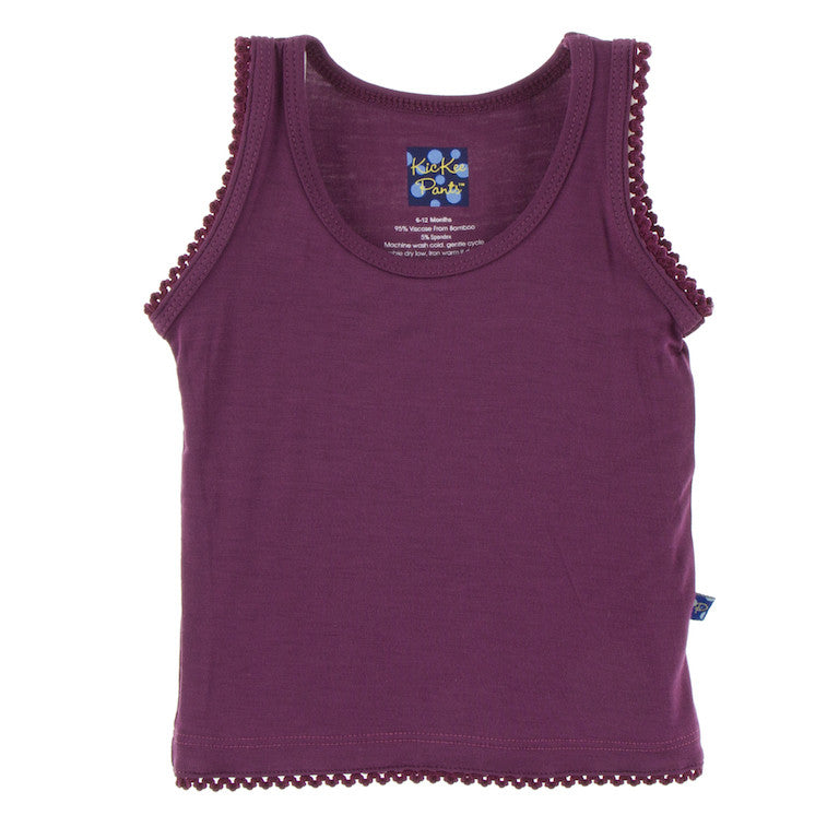 Berry Scalloped Edge Tank