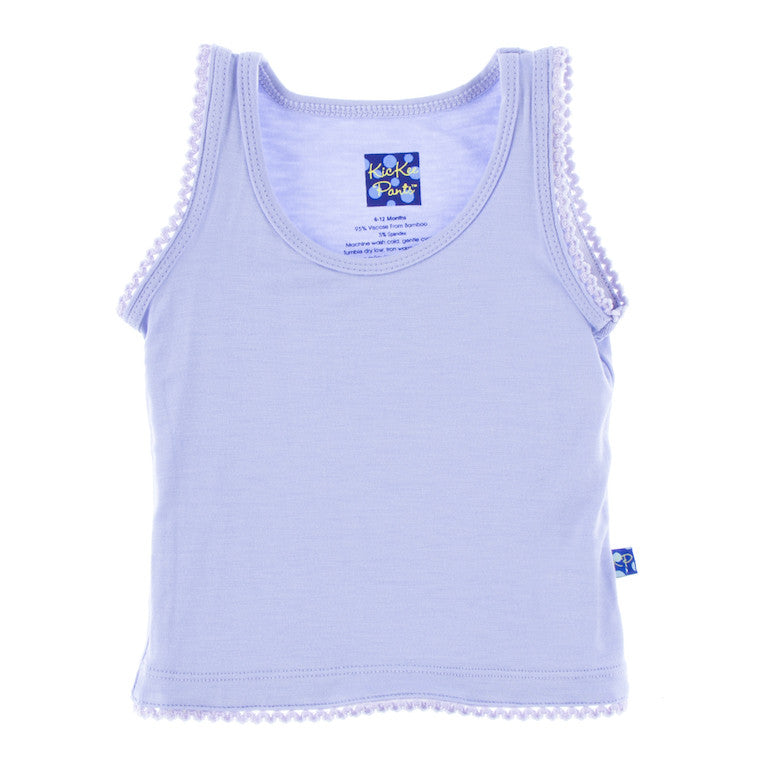 Lilac Scalloped Edge Tank