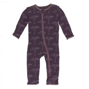 Fig Acacia Trees Coverall with Zipper