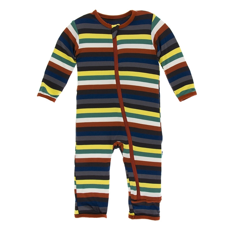 Dark London Stripe Coverall with Zipper