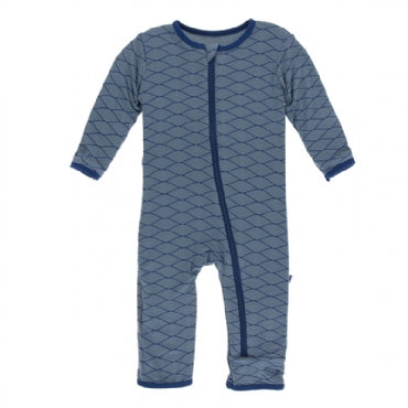 Dusty Sky Tides Coverall with Zipper