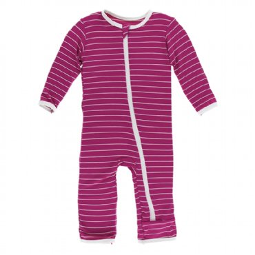 Tokyo Dragonfruit Stripe Coverall with Zipper