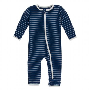 Tokyo Navy Stripe Coverall with Zipper
