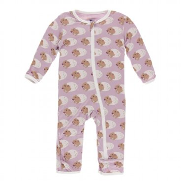 Print Coverall with Zipper  Sweet Pea Diictodon - 6-9 Months