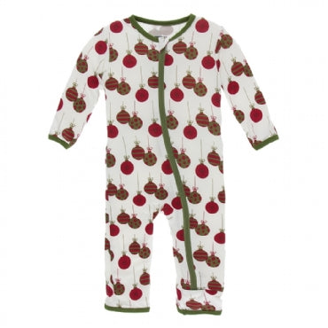 Coverall with Zipper Natural Ornaments
