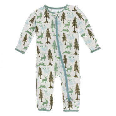 Coverall with Zipper Natural Woodland Holiday
