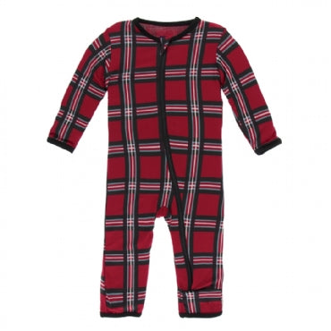 Coverall with Zipper Christmas Plaid 2019