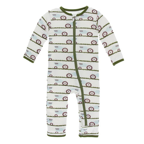 Natural Tractor and Grass Coverall with Zipper