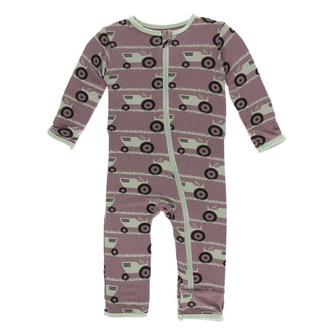 Raisin Tractor and Grass Coverall with Zipper