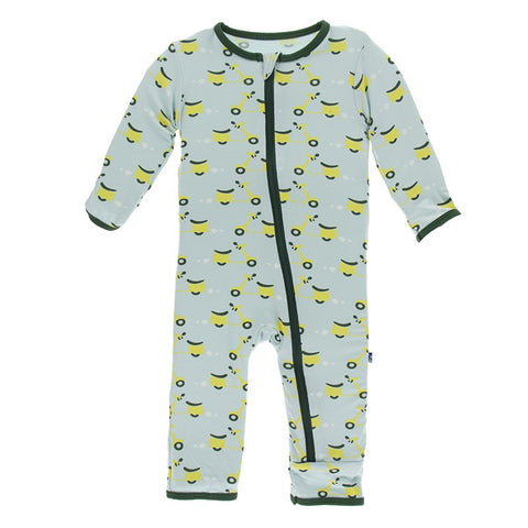 Spring Sky Scooter Coverall with Zipper