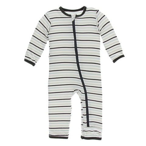 Tuscan Afternoon Stripe Coverall with Zipper