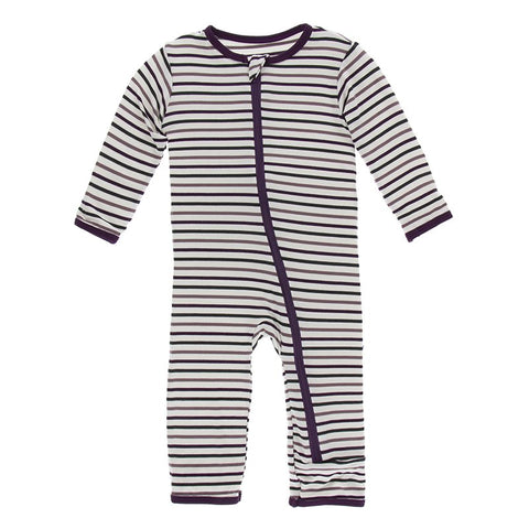 Tuscan Vineyard Stripe Coverall with Zipper