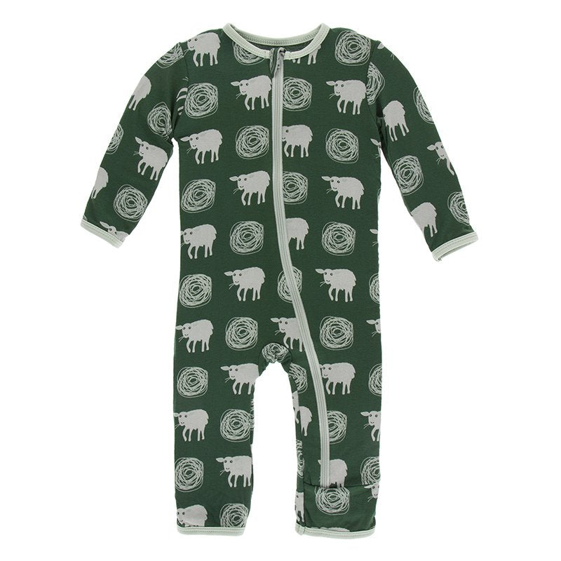 Topiary Tuscan Sheep Coverall with Zipper