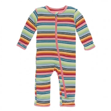 Cancun Strawberry Stripe Coverall with Zipper