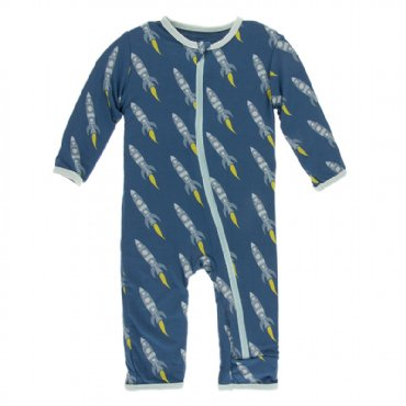 Print Coverall with Zipper Twilight Rockets