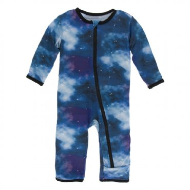 Print Coverall with Zipper Wine Grapes Galaxy