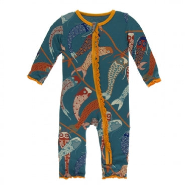 Oasis Koinobori Muffin Ruffle Coverall with Zipper