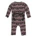 Raisin Grape Vines Muffin Ruffle Coverall with Zipper
