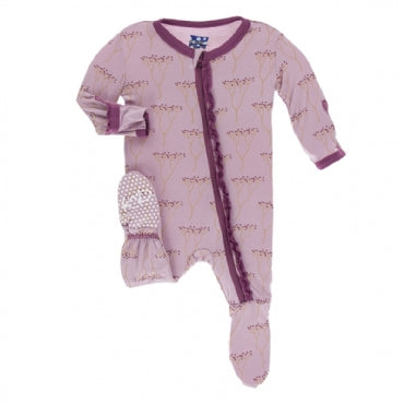 Print Muffin Ruffle Footie with Zipper  Cooksonia - 12-18 Months