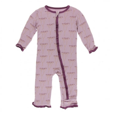 Print Muffin Ruffle Coverall with Zipper  Cooksonia - 3T