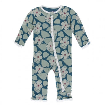 Oasis Hibiscus Classic Ruffle Coverall with Zipper