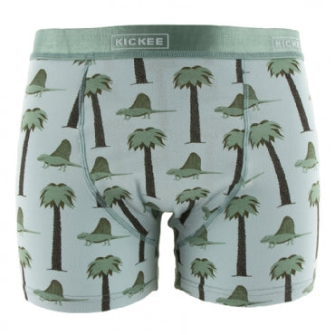 Men's Print Boxer Brief  Dimetrodon - S