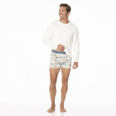 Men's Print Boxer Brief Burlap Sharks