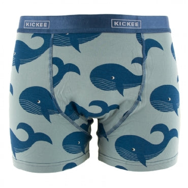 Men's Print Boxer Brief Jade Whales