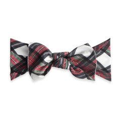Printed Knot White Tartan Plaid