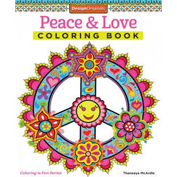 Coloring Book- Peace And Love - Lil Tulips