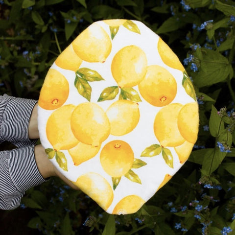 BOWL & PLATE COVERS VINTAGE LEMONS