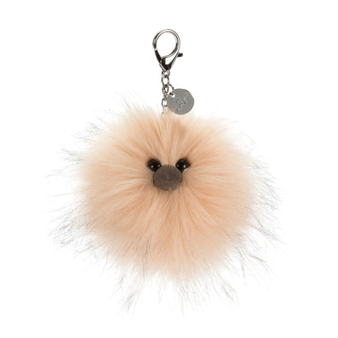 Just Peachy Pom Bag Charm