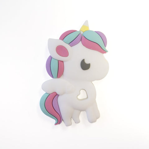 RAINBOW UNICORN SILICONE TEETHER - SINGLE