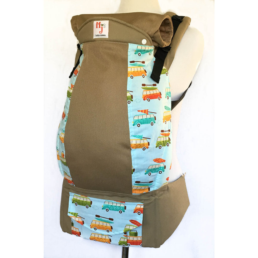 MJ Baby Carriers Road Trip on Khaki Fresh Mesh - Lil Tulips - 1