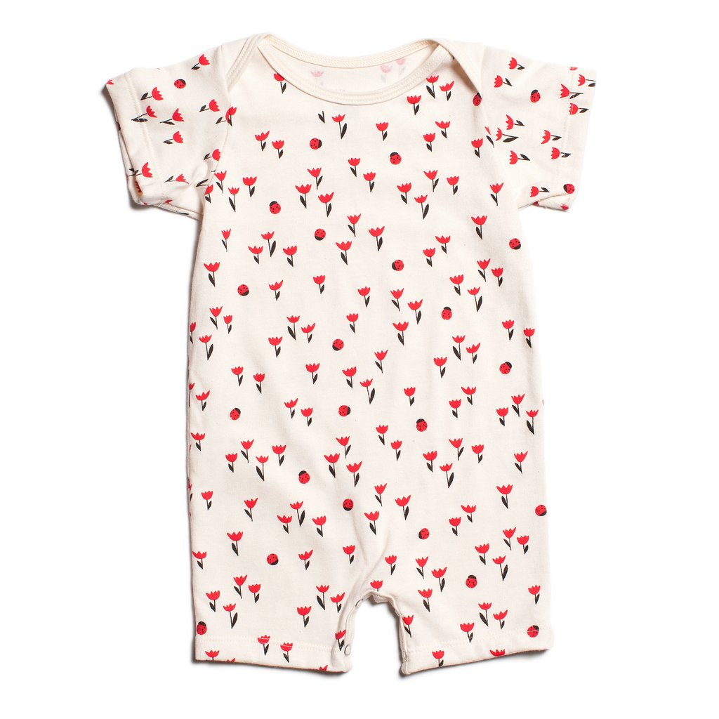Tulips Red Romper