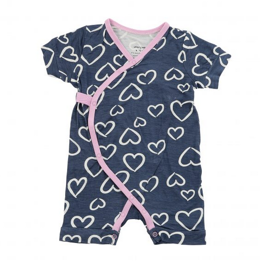 Silkberry Painted Heart Twilight Bamboo Romper