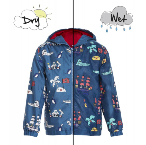 Pirates Color Changing Rain Coat