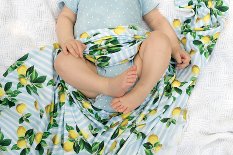 Lemon Drops Stretch Swaddle Set