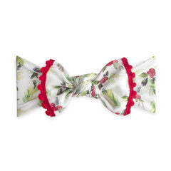 HOLLY BERRY TRIMMED PRINTED KNOT