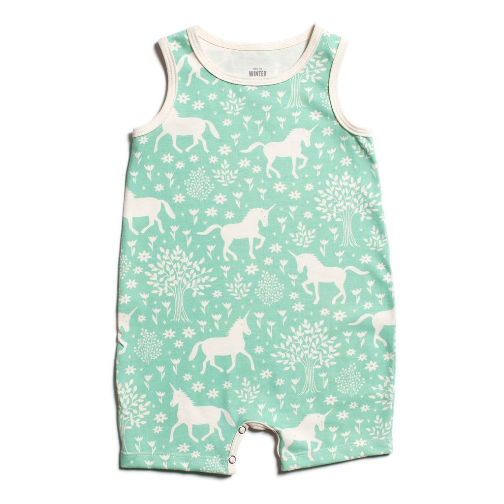 Magic Forest Mint Tank-Top Romper