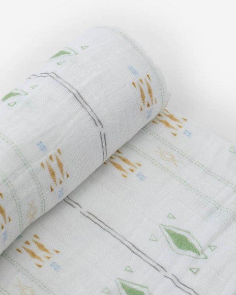 Diamond Stripe Cotton Swaddle