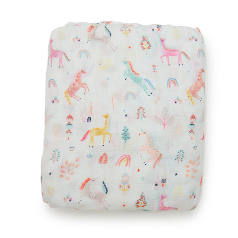 Fitted Crib Sheet - Unicorn Dream
