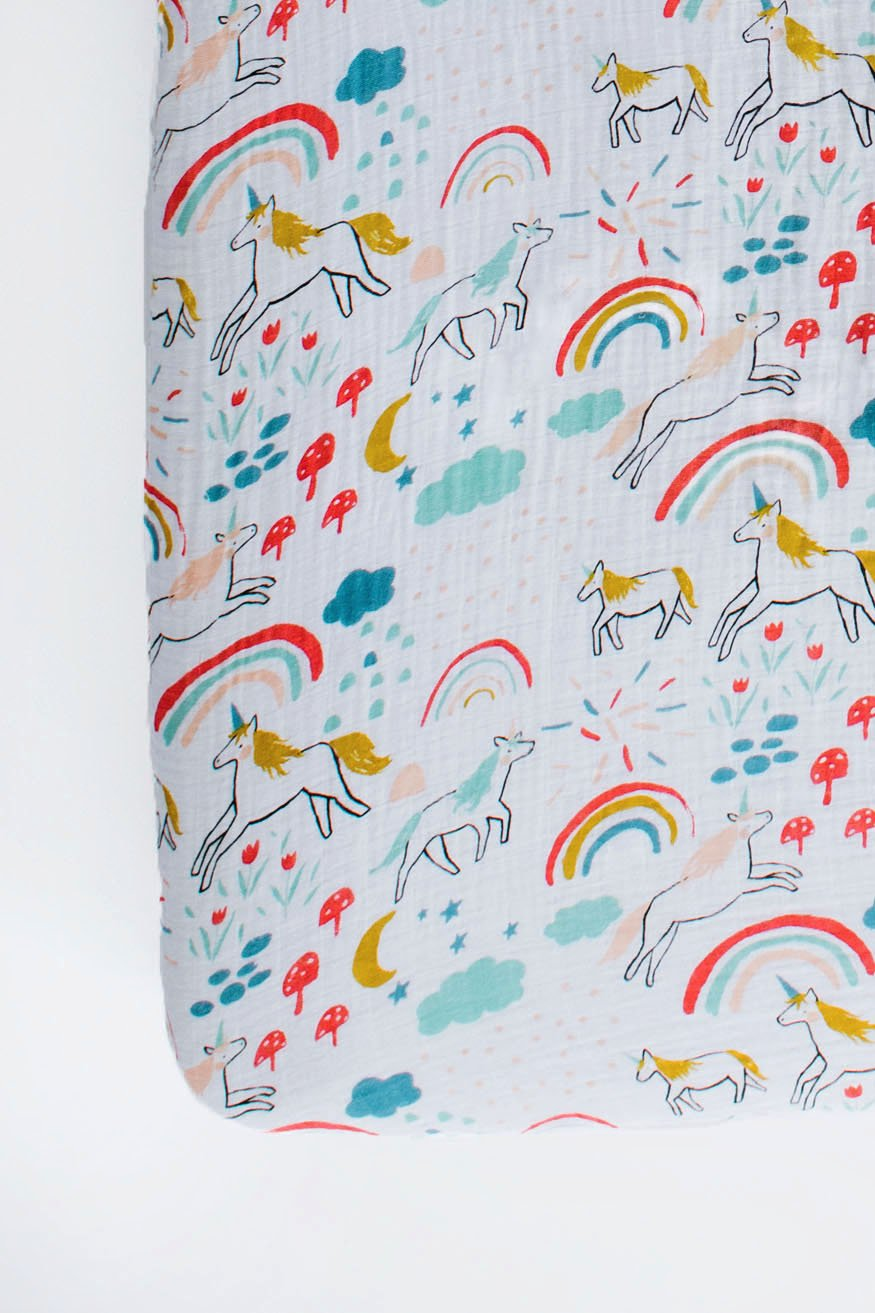 Unicorn Land Crib Sheet