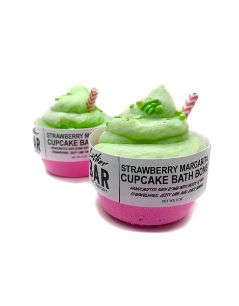 Strawberry Margarita Cupcake Bath Bomb