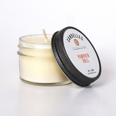 Candelles 4 oz All Natural Soy Wax Candle Pumpkin Roll - Lil Tulips