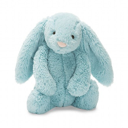JellyCat Bashful Bunny Aqua Medium - Lil Tulips