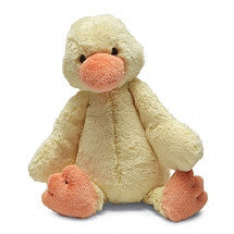 JellyCat Bashful Duckling Yellow Small - Lil Tulips