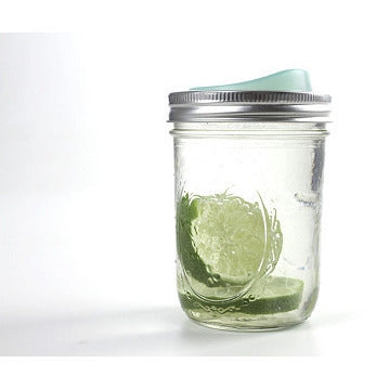 Cuppow Canning Jar Drinking Lid -WIDE MOUTH - Lil Tulips - 1