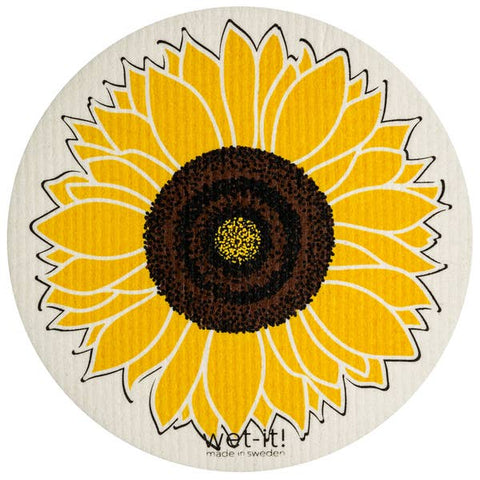 Sunflower Round Swedish Cloth