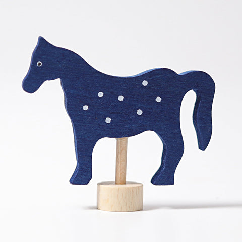Decorative Figure Blue Horse